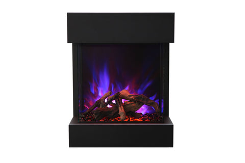 Amantii 2025WM Cube 3-Sided View Built In Electric Fireplace - Heater - CUBE-2025WM - Electric Fireplaces Depot