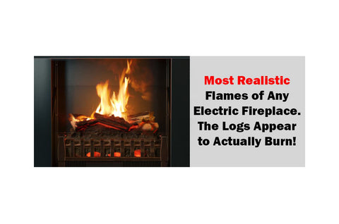 Magik Flame Electric Fireplace Insert with Heater and Logs - Realistic Flames - Crackling Sound - Electric Fireplaces Depot