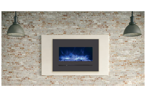 Sierra Flame 32 inch Wall Mount Linear Electric Fireplace - Heater - Electric Fireplaces Depot