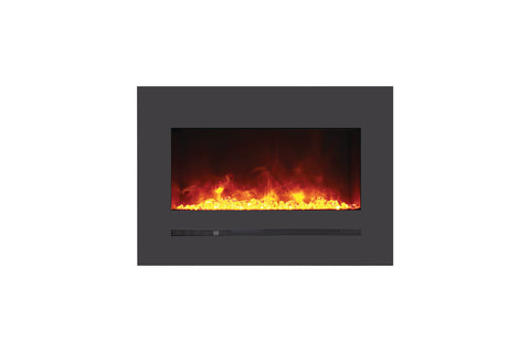 Image of Sierra Flame 32 inch Wall Mount Linear Electric Fireplace - Heater - Electric Fireplaces Depot