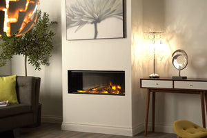 Electric Modern Evonicfires 40'' Built-In Linear Electric Fireplace - E40
