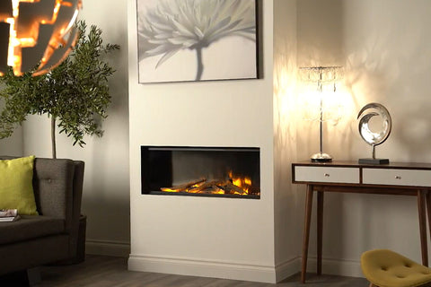 Electric Modern EvonicFires 60 Inch Built-In Wall Mount Linear Electric Fireplace - E60 - Electric Fireplaces Depot