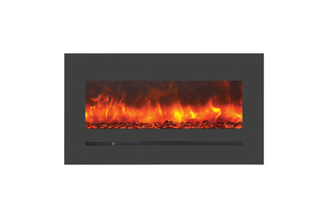 Sierra Flame 40 inch Wall Mount Linear Electric Fireplace - Heater - Electric Fireplaces Depot