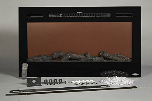 Touchstone Sideline Black 50'' Built-in Electric Fireplace - Heater - 80004 - Accessory - Electric Fireplaces Depot