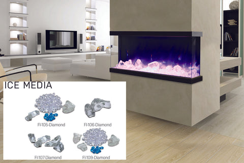 Image of Amantii Panorama 50 inch 3-Sided Built-in Electric Fireplace - Heater - Electric Fireplaces Depot