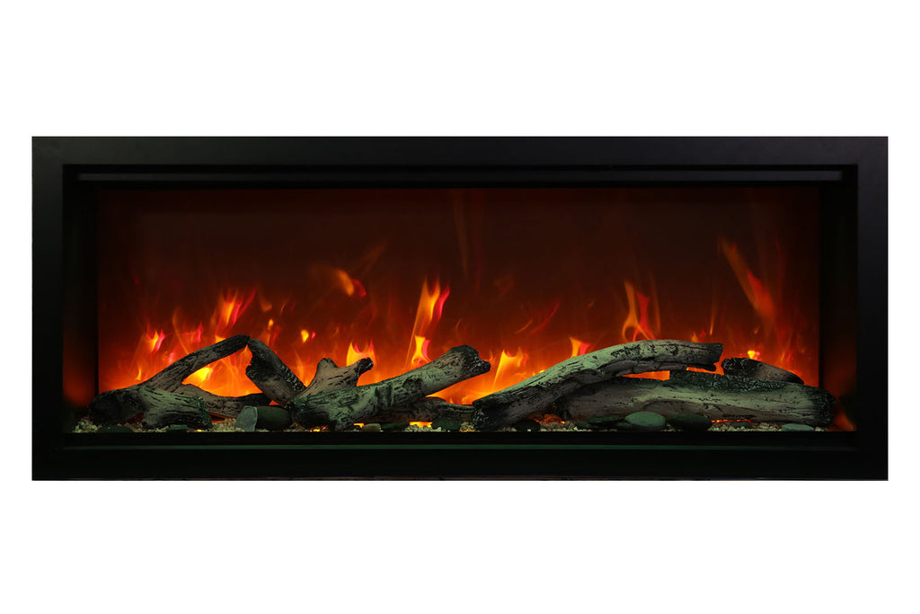 Amantii Symmetry 74'' Built In Fully Recessed Flush Mount Linear Electric Fireplace | Extra Tall Deep | SYM-74-XT | Electric Fireplaces Depot