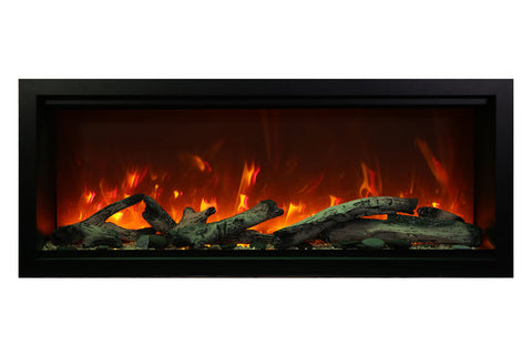 Amantii Symmetry 60'' Extra Tall & Deep Built In Linear Electric Fireplace