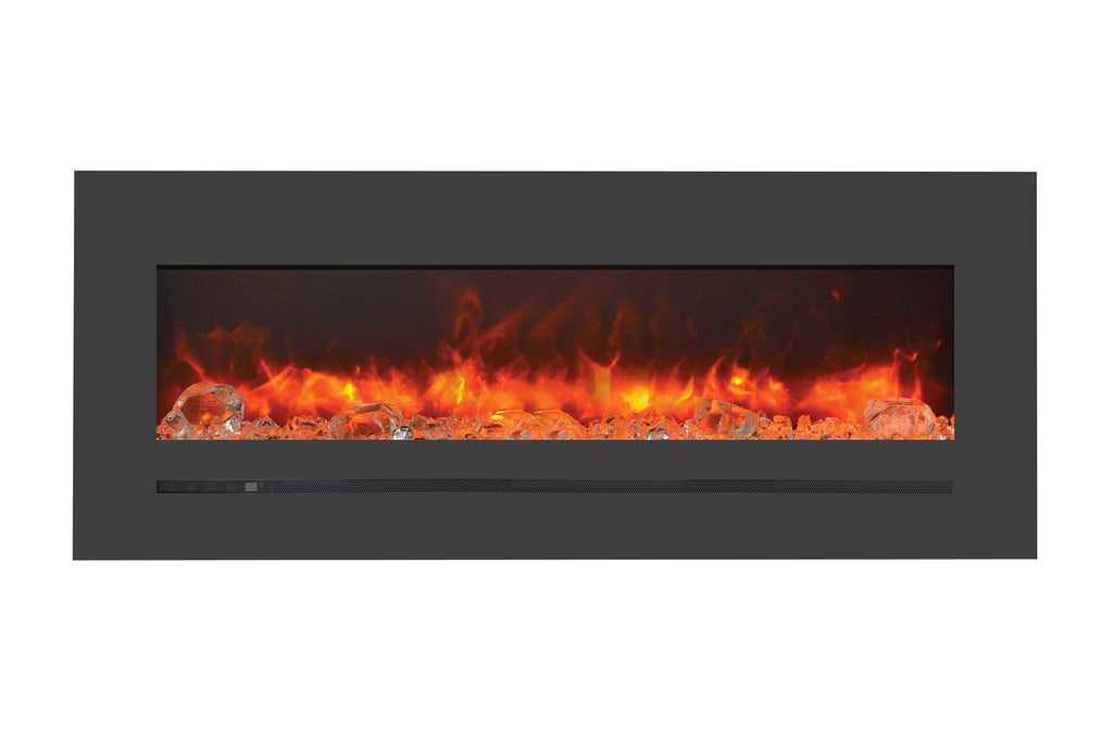Sierra Flame 55 inch Wall Mount Linear Electric Fireplace - Heater - Electric Fireplaces Depot