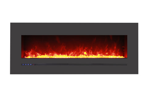 Image of Sierra Flame 55 inch Wall Mount Linear Electric Fireplace - Heater - Electric Fireplaces Depot