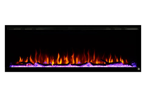 "Image of Touchstone Sideline Elite 60"" Built-In Recessed Flush Mount Electric Fireplace - 80037 - Electric Fireplaces Depot"