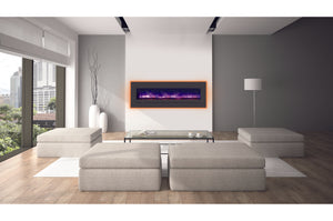 Sierra Flame 66 inch Wall Mount Linear Electric Fireplace - Heater - Electric Fireplaces Depot