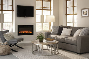 Touchstone Sideline Black 50'' Built-in Electric Fireplace - Heater - 80004 - Electric Fireplaces Depot