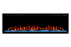 Touchstone Sideline Elite 72 Inch Wall-Mount / Recessed Linear Electric Fireplace