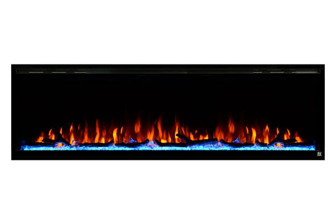 "Image of Touchstone Sideline Elite 72"" Built-In Recessed Flush Mount Electric Fireplace - 80038 - Electric Fireplaces Depot"