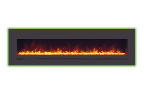 Image of Sierra Flame 78 inch Wall Mount Linear Electric Fireplace - Heater - Electric Fireplaces Depot