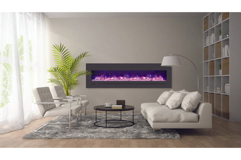 Sierra Flame 78 inch Wall Mount Linear Electric Fireplace - Heater - Electric Fireplaces Depot