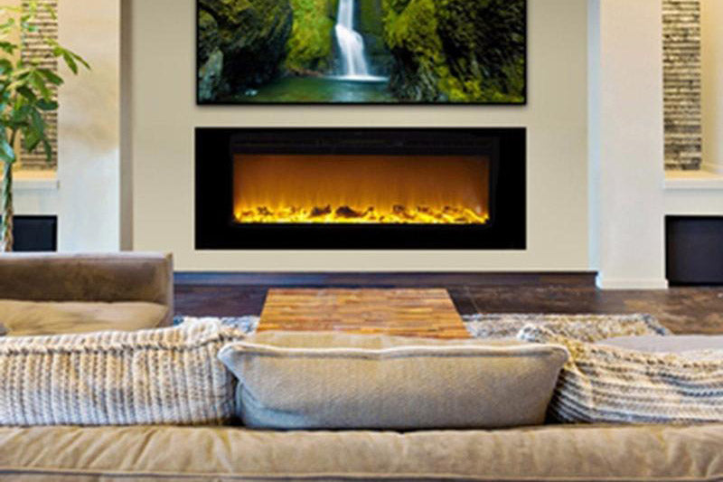 Touchstone Sideline 60 Inch Built In Electric Fireplace Heater