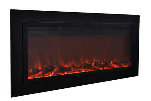 Image of Touchstone Sideline Steel 50 inch Buit-in Electric Fireplace - Heater - 80025 - Electric Fireplaces Depot