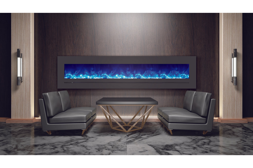 Sierra Flame 96 inch Wall Mount Linear Electric Fireplace - Heater - Electric Fireplaces Depot