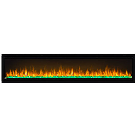 Image of Napoleon Alluravision 74-Inch Wall Mount Electric Fireplace - Slim - Linear - NEFL74CHS - Electric Fireplaces Depot