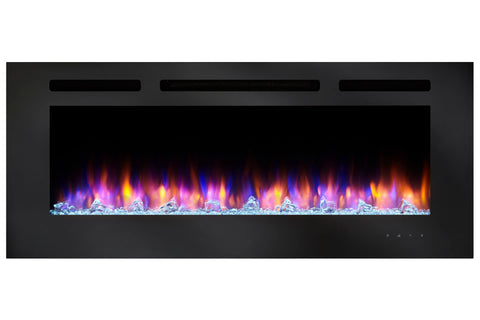 Hearth & Home SimpliFire Allusion 40 Inch Wall Mount Recessed Linear Electric Fireplace Insert | SF-ALL40-BK | Electric Fireplaces Depot