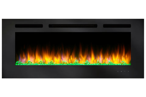 Hearth & Home SimpliFire Allusion 84 Inch Wall Mount Recessed Linear Electric Fireplace Insert | SF-ALL84-BK  |  Electric Fireplaces Depot