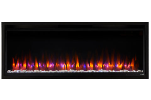 Image of Hearth & Home SimpliFire Allusion Platinum 50 inch Wall Mount Recessed Linear Electric Fireplace Insert | SF-ALLP50-BK | Electric Fireplaces Depot
