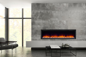 Hearth & Home SimpliFire Allusion Platinum 72'' Wall Mount / Recessed  Electric Fireplace
