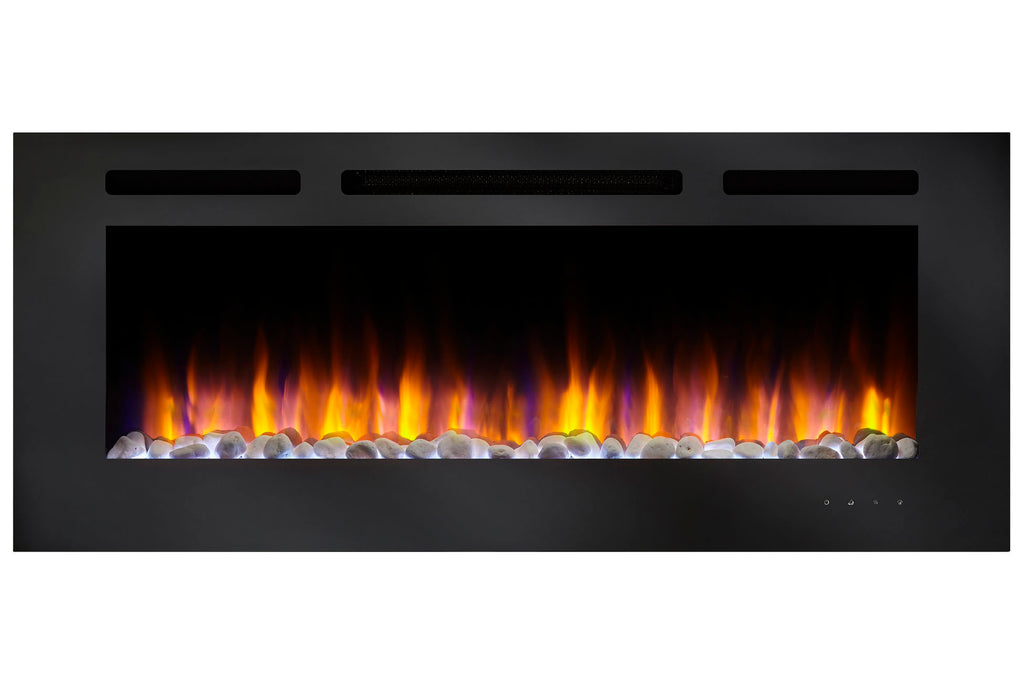 Hearth & Home SimpliFire Allusion 60 Inch Wall Mount Recessed Linear Electric Fireplace Insert | SF-ALL60-BK | Electric Fireplaces Depot