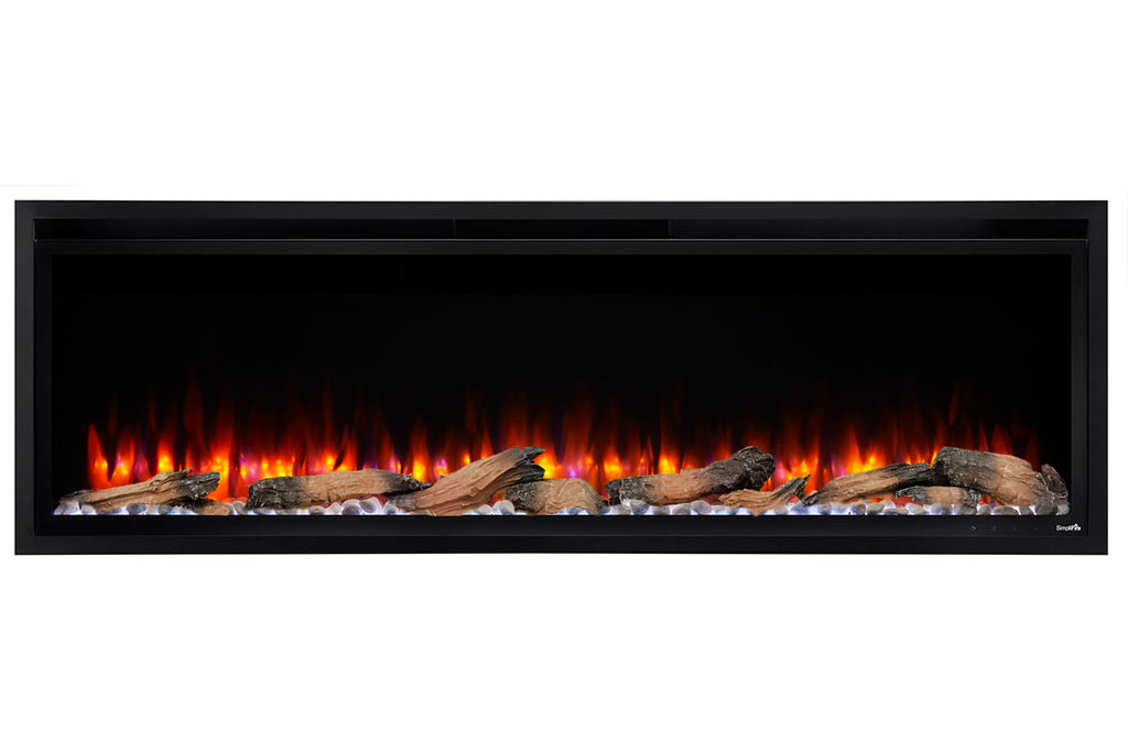 Hearth & Home SimpliFire Allusion Platinum 50'' Wall Mount / Recessed Linear Electric Fireplace
