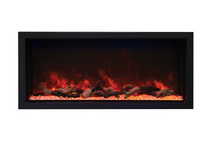 Amantii Panorama 50-inch Built-in Tall & Deep Indoor/Outdoor Linear Electric Fireplace