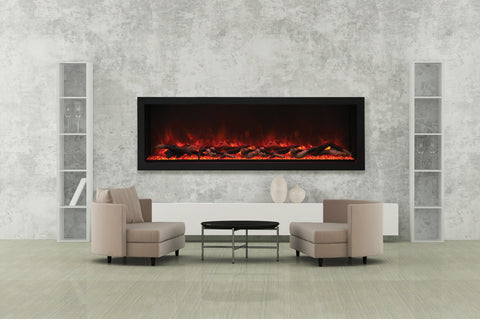 Image of Amantii Panorama 72-in Deep Tall Built-in Electric Fireplace - Heater - Electric Fireplaces Depot