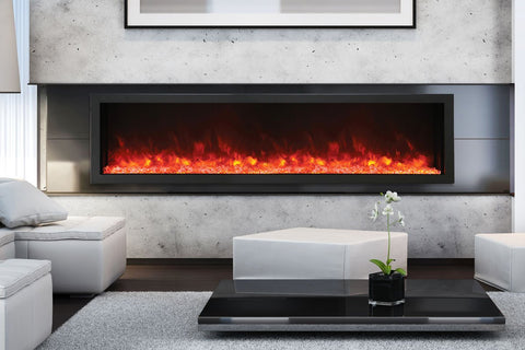Amantii Panorama 88-in Deep Tall Built-in Electric Fireplace - Heater - Electric Fireplaces Depot