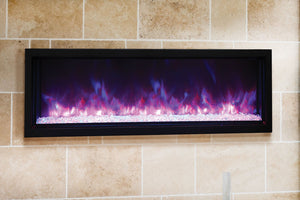 Amantii Panorama 60-in Extra Slim Built-in Electric Fireplace - Heater - Electric Fireplaces Depot
