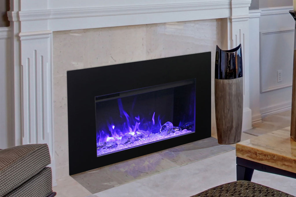 Amantii Traditional Series 30 Inch Built-In Electric Firebox Insert | Electric Fireplace Heater | TRD-30 | Electric Fireplaces Depot