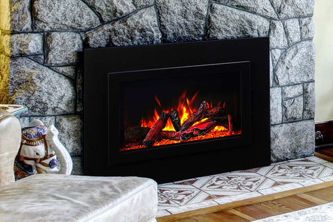 Image of Amantii Traditional Series 38 Inch Built-In Electric Firebox Insert | Electric Fireplace Heater | TRD-38 | Electric Fireplaces Depot
