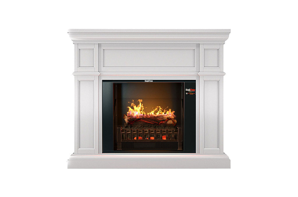 Magik Flame Artemis White Electric Fireplace Mantel Heater