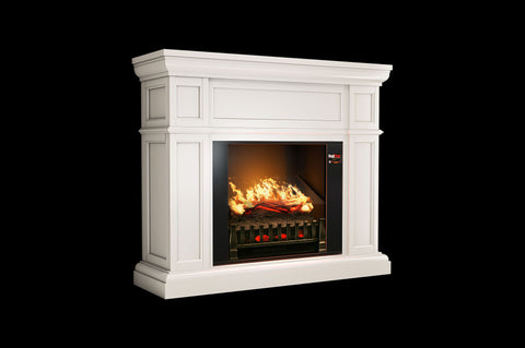 Magik Flame Artemis White Electric Fireplace Mantel - Heater - Logs - Electric Fireplaces Depot