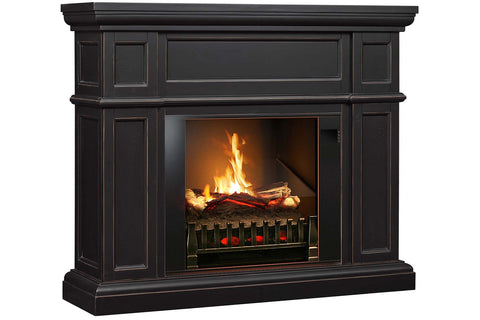 Image of Magik Flame Artemis Dark Walnut Electric Fireplace Mantel - Heater - Logs - Electric Fireplaces Depot