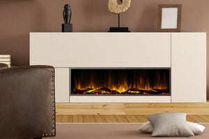 Dynasty Harmony 57'' Built-In Linear Electric Fireplace - BEF Series