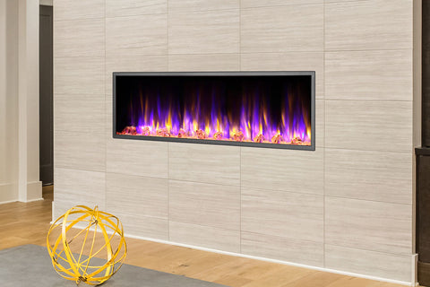 Image of Dynasty Harmony 57 Inch Built In Linear Wall Mount Electric Fireplace | DY-BEF57 | Dynasty Fireplaces | Electric Fireplaces Depot