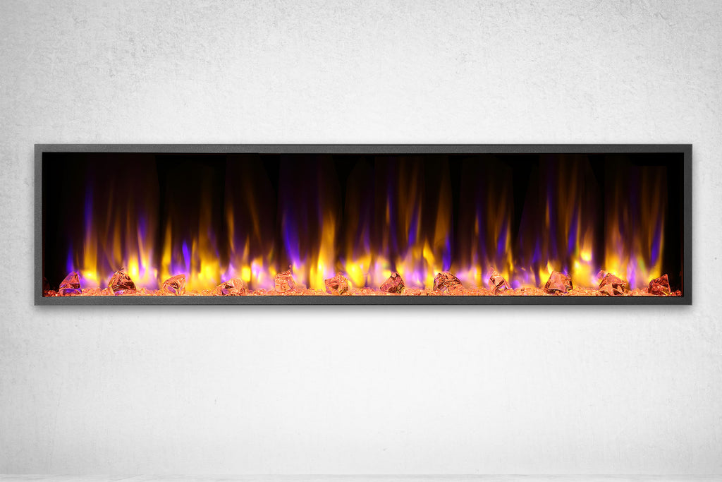 Dynasty Harmony 64 Inch Built In Linear Wall Mount Electric Fireplace | DY-BEF64 | Dynasty Fireplaces | Electric Fireplaces Depot