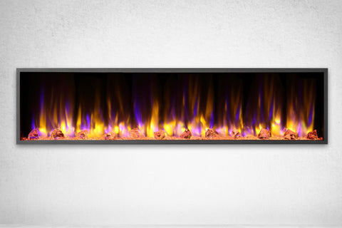 Image of Dynasty Harmony 64 Inch Built In Linear Wall Mount Electric Fireplace | DY-BEF64 | Dynasty Fireplaces | Electric Fireplaces Depot