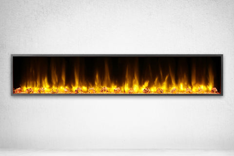 Image of Dynasty Harmony 80 Inch Built In Linear Wall Mount Electric Fireplace | DY-BEF80 | Dynasty Fireplaces | Electric Fireplaces Depot
