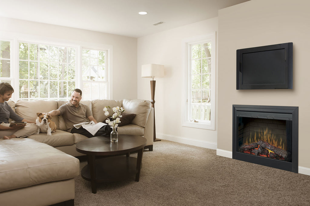 "Dimplex 39"" Deluxe Built-In Electric Firebox w/ 3 Stage Remote"