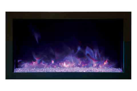 Amantii Panorama 30 inch Extra Slim  Built-in Indoor/Outdoor Electric Fireplace