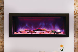 Amantii Panorama 40 inch Deep Built-in Electric Fireplace – Heater - Electric Fireplaces Depot