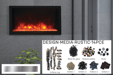 Amantii Panorama 40-in Deep Tall Built-in Electric Fireplace - Heater - BI-40-DEEP-XT - Electric Fireplaces Depot
