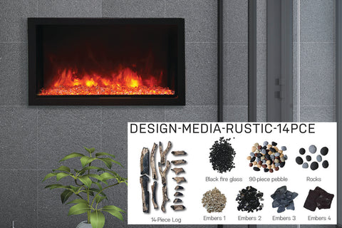 Amantii Panorama 40-in Deep Tall Built-in Electric Fireplace - Heater - Electric Fireplaces Depot