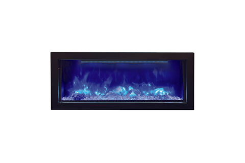 Image of Amantii Panorama 40 inch Deep Built-in Electric Fireplace – Heater – BI-40-DEEP-OD – Electric Fireplaces Depot